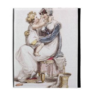 Morning dress, fashion plate from Ackermann's Repo iPad Folio Covers