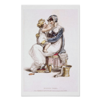 Morning dress, fashion plate from Ackermann's Repo Poster