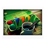 Morning Easter Eggs Post Cards