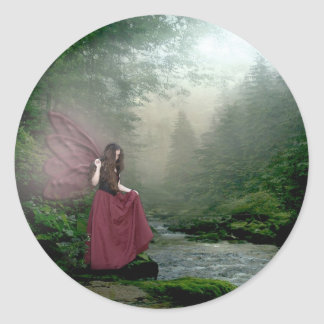 Morning Fairy Classic Round Sticker