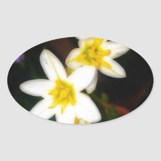 Morning Flowers Photograph by Erika Elmore Oval Sticker