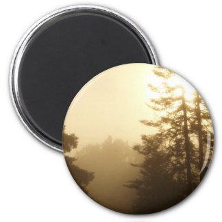 Morning Fog 2 Inch Round Magnet