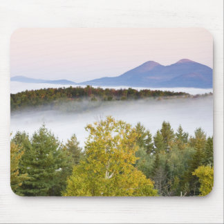 Morning fog and the Percy Peaks as seen from the Mouse Pad
