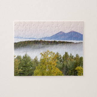 Morning fog and the Percy Peaks as seen from the Jigsaw Puzzles