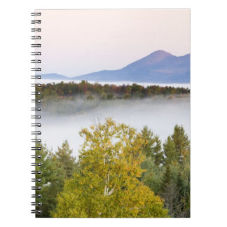 Morning fog and the Percy Peaks as seen from the Spiral Notebook