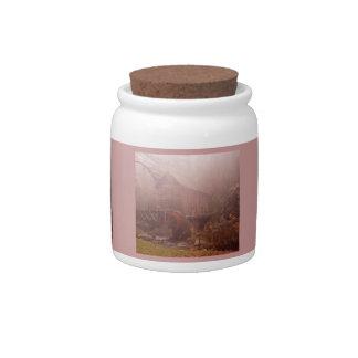 Morning Fog Candy Jar
