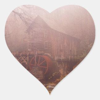 Morning Fog Heart Sticker
