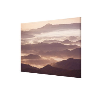 Morning fog in the southern Appalachian Canvas Print