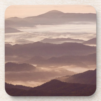 Morning fog in the southern Appalachian Beverage Coaster
