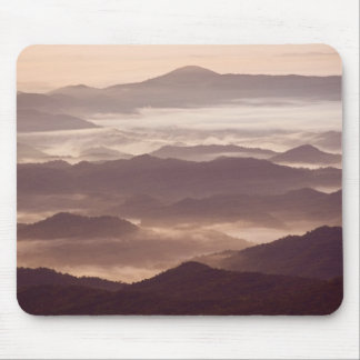 Morning fog in the southern Appalachian Mousepads