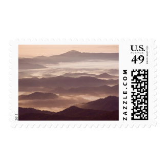 Morning fog in the southern Appalachian Postage Stamp