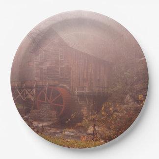 Morning Fog 9 Inch Paper Plate