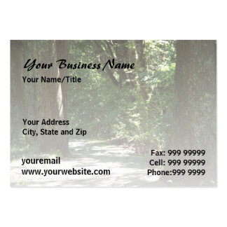 Morning Forest Walk l Nature Landscape Large Business Cards (Pack Of 100)