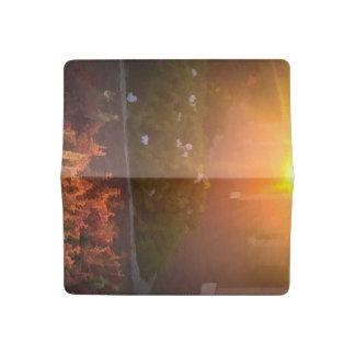 Morning Garden Walk Checkbook Cover