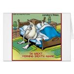 Morning Garlic Breath Funny Offbeat Cartoon Gifts Card