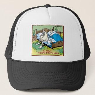 Morning Garlic Breath Funny Offbeat Cartoon Gifts Trucker Hat