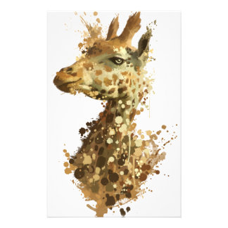 Morning Giraffe Custom Stationery