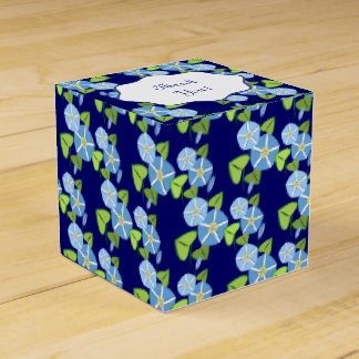 Morning Glories Abstract Pattern Party Favor Box