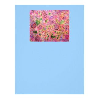 morning glories blooming letterhead