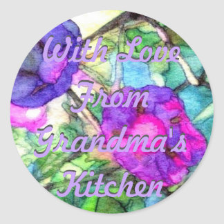Morning Glories Grandma's Kitchen CricketDiane Classic Round Sticker
