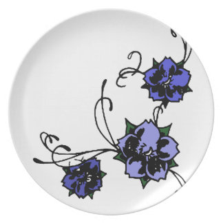 Morning Glories illustration plate
