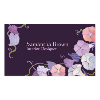 Morning Glories Interior Design Business Cards