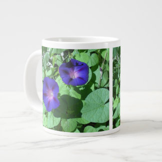Morning Glories Jumbo Mug 20 Oz Large Ceramic Coffee Mug