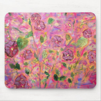 morning glories purple and blue mouse pad