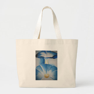 Morning Glories Watercolor Tote Canvas Bag
