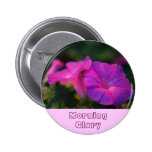 Morning Glory 2 Inch Round Button