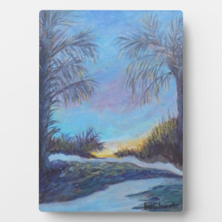 MORNING GLORY 5 x 7 Easel Plaque