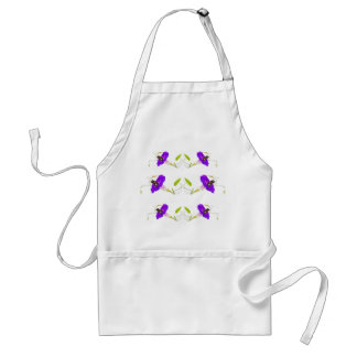 Morning Glory and Butterfly Adult Apron