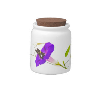 Morning Glory and Butterfly Candy Jars