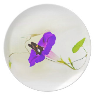 Morning Glory and Butterfly Plate