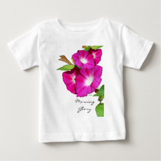 Morning Glory and Heart Baby T-Shirt