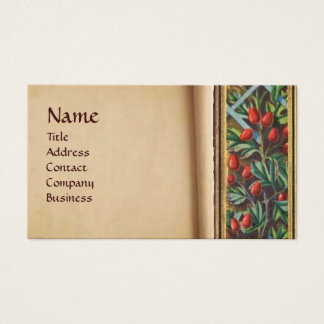 MORNING GLORY AND RED BERRIES BUSINESS CARD