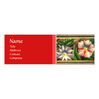 MORNING GLORY AND RED BERRIES BUSINESS CARD TEMPLATE