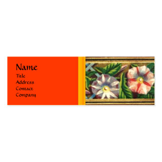 MORNING GLORY AND RED BERRIES Double-Sided MINI BUSINESS CARDS (Pack OF 20)