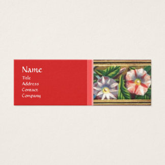 MORNING GLORY AND RED BERRIES MINI BUSINESS CARD