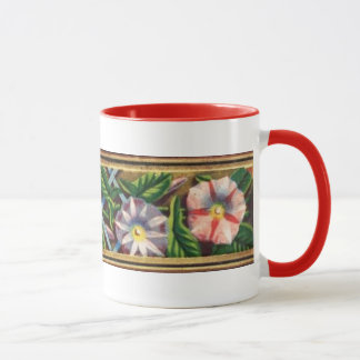 MORNING GLORY AND RED BERRIES MUG