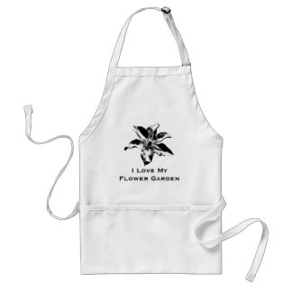 Morning Glory Black And White Apron