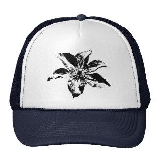 Morning Glory Black and White Cap Trucker Hat