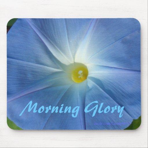 Morning Glory Blue II Mousepads