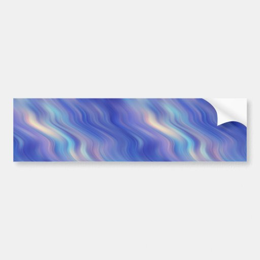 Morning Glory Blue Wavy Texture Bumper Sticker