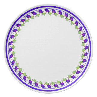 Morning Glory Circle - Floral Photography Cut Out Dinner Plate