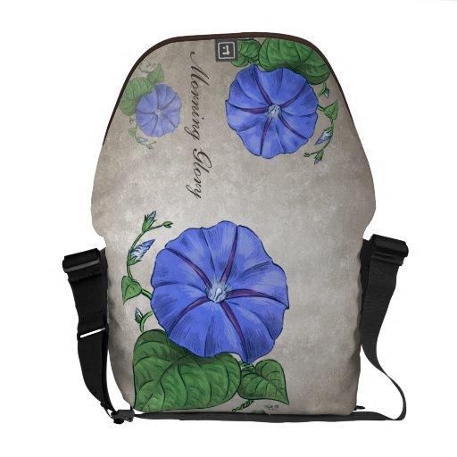 Morning Glory Customizable Messenger Bags