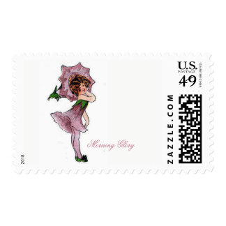 Morning Glory Cute Flower Child Floral Vintage Postage