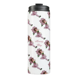 Morning Glory Cute Flower Child Floral Vintage Thermal Tumbler