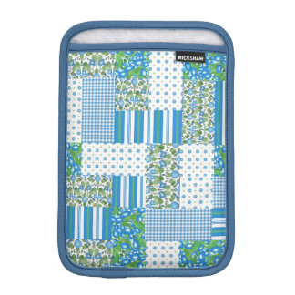Morning Glory Faux Patchwork iPad Mini Sleeve