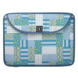 Morning Glory Faux Patchwork MacBook Pro Sleeve